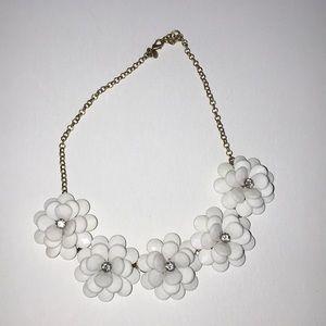 Jcrew flower statement necklace